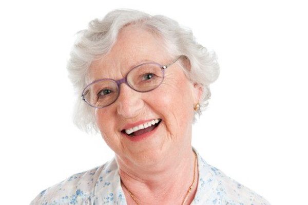 Senior Citizen Is All Smiles after Receiving New Affordable Dentures